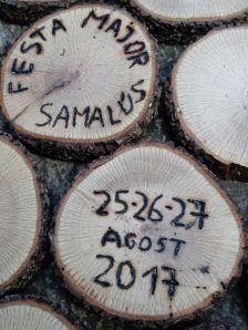 Imatge de la portada del programa de la Festa Major de Samalús 2017