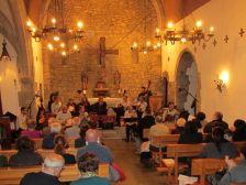 Concert del grup Puig-graciós dins de l'església de Sant Andreu.