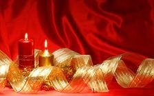 Composició nadalenca d'espelmes.