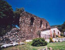 mur principal de les ruïnes.  Vista sud-est.