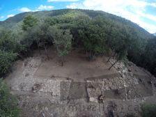 Vista aèria de la fortificació.