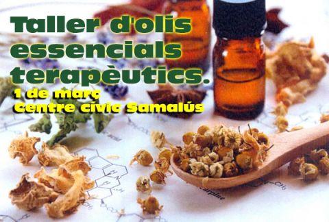 Taller d'olis essencials terapèutics.